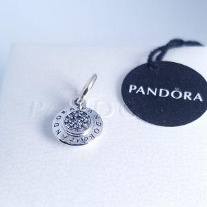PANDORA Signature Pendant Silver Clear CZ 925 Ale